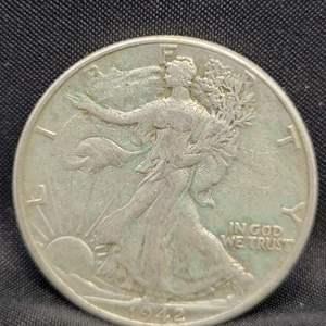 Lot 13 - 1942 SILVER Walking Liberty Half Dollar