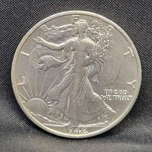 Lot 14 - 1942-S SILVER Walking Liberty Half Dollar
