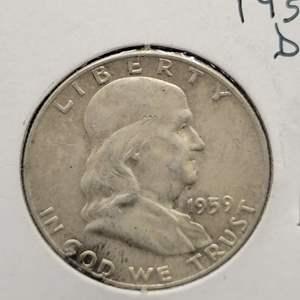 Lot 15 - 1959-D SILVER Franklin Half Dollar