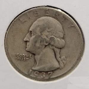 Lot 19 - 1937 SILVER Washington Quarter Dollar