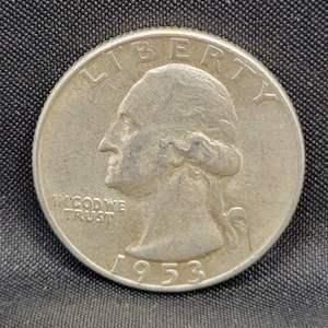 Lot 21 - 1953-S SILVER Washington Quarter Dollar