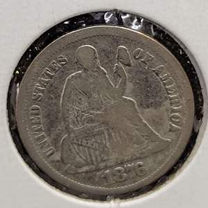 Lot 24 - 1976 SILVER Seated Liberty Dime