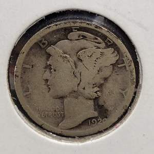 """Lot 27 - 1920-S SILVER Winged Liberty """"Mercury"""" Dime"""