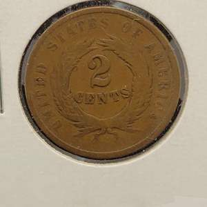 Lot 42 - 1864 RARE 2 Cent US Coin