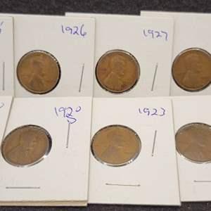 Lot 46 - Ten Lincoln Wheat Cents, 1920-1929, no duplicates