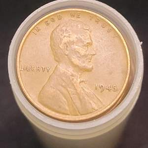 Lot 51 - Mixed Dates roll early Lincoln Wheat Cents