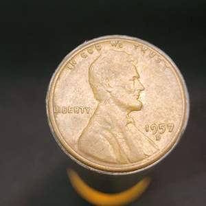 Lot 54 - 1957 Roll Lincoln Wheat Cents, FINAL YEAR OF ISSUE
