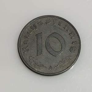 Lot 74 - 1943 German 10 Pfennig with Swastika