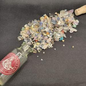 Lot 76 - Vial of Select Gemstone Chips from Around The World, Bottled in Italy