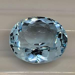 Lot 77 - 11ct Blue Topaz 14 x 12mm Oval Faceted Cut Gemstone for Jewelry Making