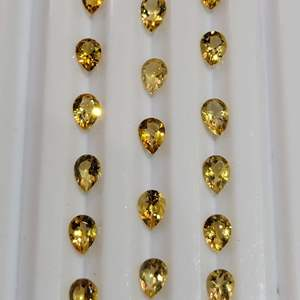 Lot 78 - 10.22ctw Citrine Pear Faceted Cut Gemstones for Jewelry Making