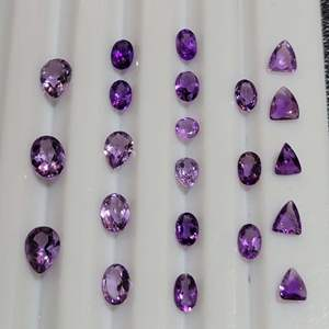 Lot 79 - 10.4ctw AMETHYST Assorted Faceted Cut Gemstones for Jewelry Making