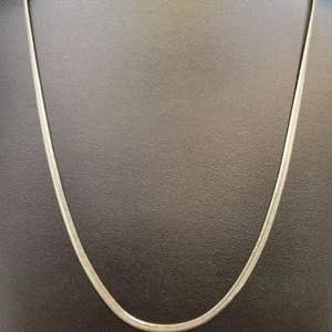 "Lot 82 - Vintage 18"" Sterling Silver Necklace, 3mm."