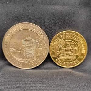 Lot 99 - 1859-1959 OREGON Centennial .50 Token and 1862-1962 City of Victoria BC Centennial 1.00.
