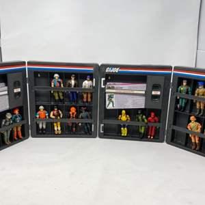 Lot #14 - 21 Vintage G.I. Joe Cobra Elite Troopers & Cobra Troopers in Vintage 1982 Official Collector Cases