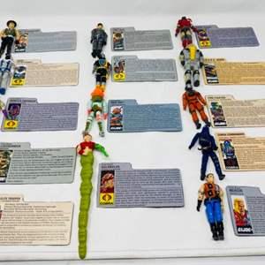 Lot #24 - 14 Vintage Hasbro G.I. joe Action Figures, Golobulus, Leatherneck, SGT. Slaughter, Deep Six, B.A.T. Cobra Android