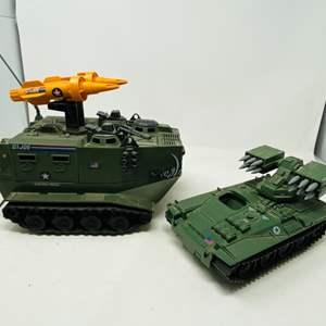 Lot #29 - Vintage 1988 G.I. Joe Warthog EVN-PSI-H07G Vehicle Tank & 1983 G.I. Joe Wolverine Vehicle Tank
