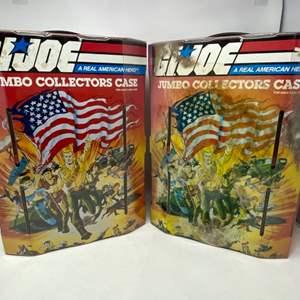 Lot #30 - Two Vintage 1985 G.I. Joe ARAH Jumbo Collectors Cases No. 50350