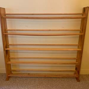 "Lot #44 - Wood Five Shelf DVD Storage Rack 48""x 7""x 46""h"