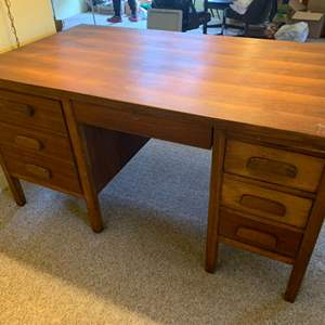 """Lot #45 - Vintage Double Pedestal Executive Desk 60""""x 34""""x 30""""h"""