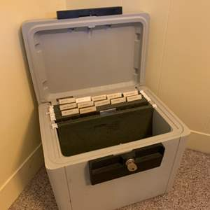 """Lot #49 - Sentry 1170 Fire Safe with Key 15.4""""x 12""""x 14""""h"""