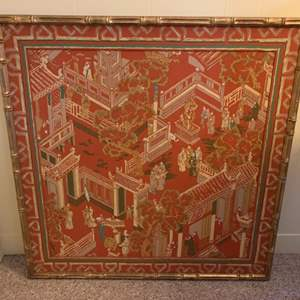 Lot #50 - Large Vintage Asian Painting on Silk