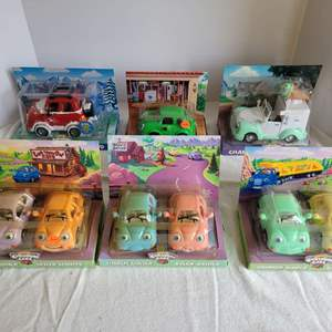 Lot #52 - Vintage Chevron Cars, 1990's/2000's, with Movable Parts, all New in Box