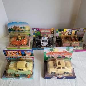 Lot #58 - Vintage New in Box Chevron Cars: Autopia, Della Deluxe, Leslie LX, Patty Patrol and Nando,