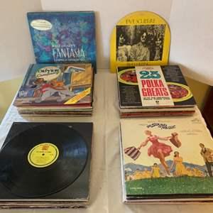 Lot #69 - Assortment of Vintage Vinyl Albums, Christmas with the Chipmunks, Elvis Christmas Album, The Jacksons Goin' Places