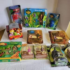 Lot #72 - Mattel Lion King, Yogi Bear & Dino, Muppet Bank, Disney G Force, A Bug's Life, Numbered Series Gilligand's Island