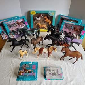 Lot #74 - Breyer Horse Sets NIB and Assortment of Larger Breyer Horses and Horseland Collectible Sets NIB