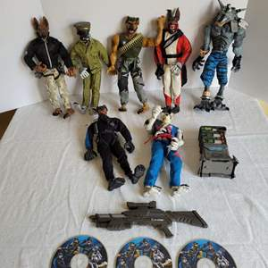 Lot #79 - K9 Corps by Lanard Action Figures: Greyslash, Malice, Rabid Fang, Eclipse and More