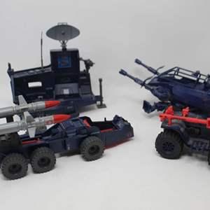Lot #90 - Vintage G.I. Joe  Cobra Ferret ATV, Cobra Surveillance Port, Cobra A.S.P. and 1988 Cobra Adder