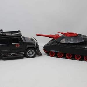 Lot #92 - 1982 Hasbro G.I. Joe C.A.T. Vehicle and 2008 Hasbro G.I. Joe Rise of Cobra Steel Crusher A,P,V.