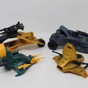 Lot #97 - 1980's G.I. Joe Cobra Overlord's Dictator, Serpentor's Air Chariot, Dreadnok Air Skiff and Darklon's Evader