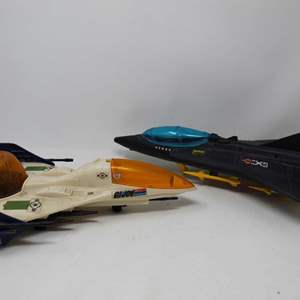 Lot #99 - 1991 G.I. Joe Cobra Liquidator Jet and 1987 G.I. Joe ARAH Battle Force 2000 Vector Jet