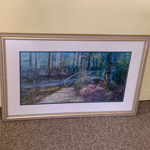 """Lot #101 - Beautiful Framed Matted and Signed Watercolor 34""""x 23"""""""