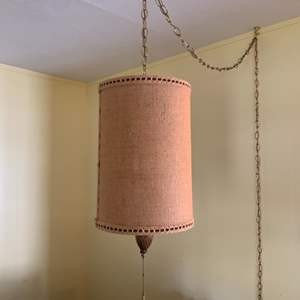 Lot #104 - Gorgeous MCM Retro Large Swag Lamp