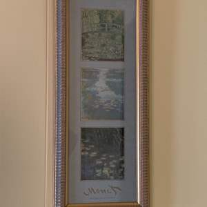 """Lot #105 - Beautiful Framed and Matted Monet Waterlilies at Giverny 18""""x 7"""""""