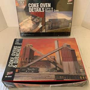 Lot #117 - Walthers Cornerstone Series Ashland Iron & Steel Coke Oven Details Larry & Quenchers and USS The Works Coke Oven
