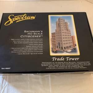 Lot #123 - Spectrum Bachmann's HO Scale Cityscenes Trade Tower Item # 88007
