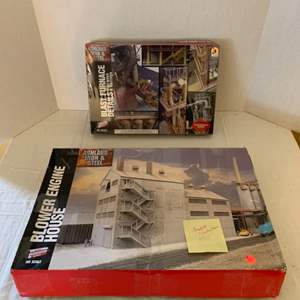 Lot #126 - Walthers Cornerstone Series Ashland Iron & steel Blast Furnace Details and Blower Engine House HO Scale