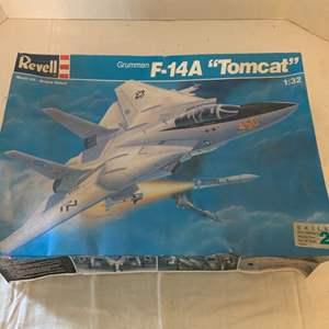 """Lot #129 - Revell Grumman F-14A """"Tomcat"""" Model Kit 1:32"""