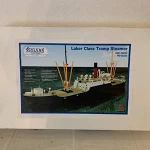 Lot #130 - Sylvan Scale Models Laker Class Tramp Steamer # 696-10821 HO Scale Kit