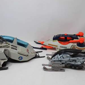 Lot #132 - Vintage 1980's G.I. Joe Rockslide A.T.A.V., Cobra Snow Vehicle and Cobra Ice Sabre