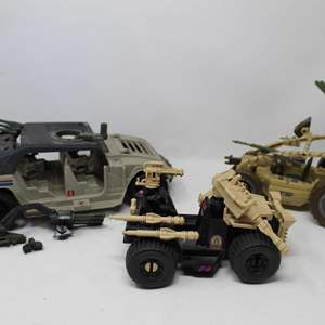 Lot #135 - Vintage Hasbro  G.I. Joe Vehicles: Desert Scorpion Sand Razon and Brawler HMV