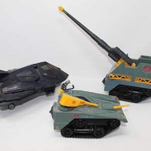 Lot #139 - Vintage Hasbro G.I. Joe Cobra Sweeper Stealth and 1987 Cobra Maggot