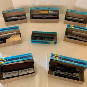 Lot #142 - Eight Boxed HO Scale Athearn Trains in Miniature