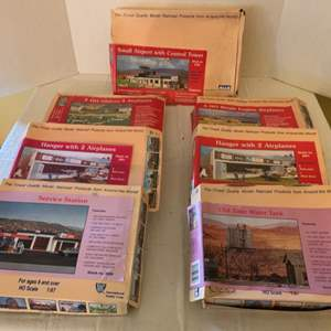 Lot #159 - International Hobby Corp. HO Scale Building Kits, Made in Denmark. Vintage