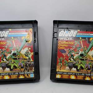 Lot #170 - Two Vintage 1982 G.I. Joe Collector Display and Carry Cases with G.I. Joe Figures